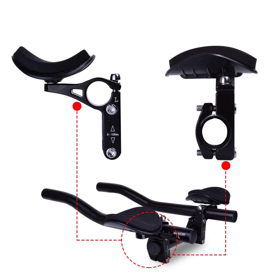 para bicicletas de monta/ña o carretera manillar con apoyo para descansar Acople de manillar TT de Hotgod para triatlones