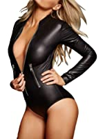 Shawhuwa Womens Sexy Casual Party Work Bodysuit with Sleeves Jumpsuit Tops