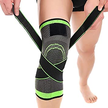 5267d592e4 Knee Brace,C-Gardian Compression Support Knee Sleeve with Adjustable Strap Knee  Pad for