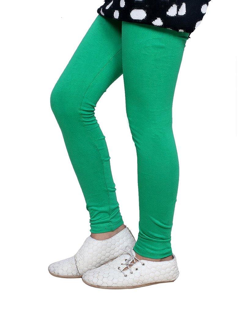 Indistar Girls Super Soft Cotton Leggings/_Green