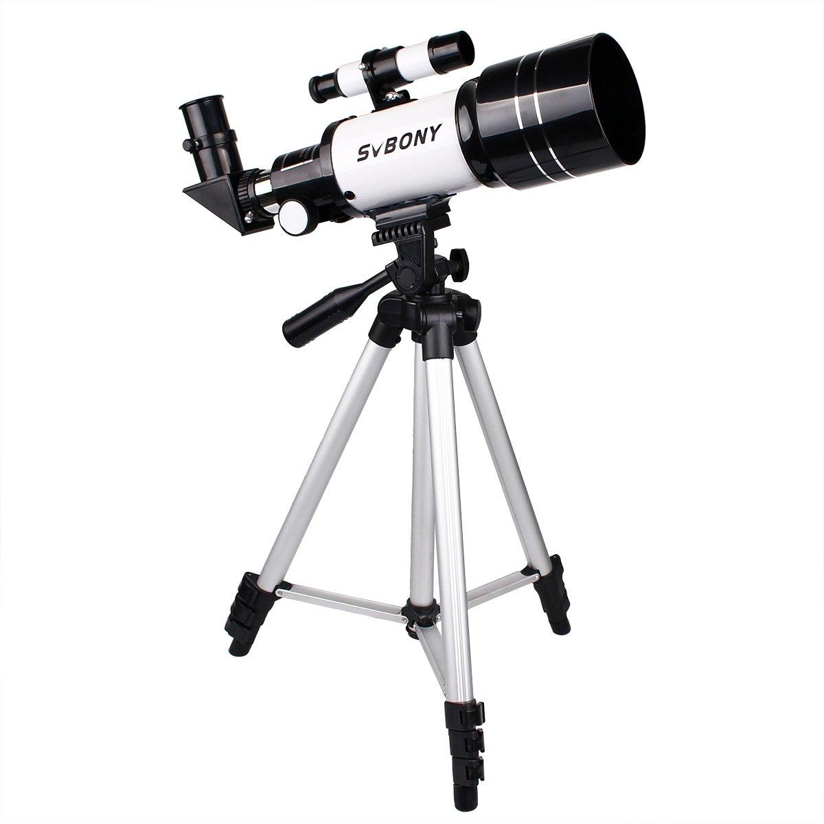 Svbony Telescopio Astron¨®mico de 70mm Refractivo Terrestre y Astron¨®mico (300mm) con TR¨ªpode para Astr¨®nomos y Ni?os Ideal para los Principantes EUF9313B