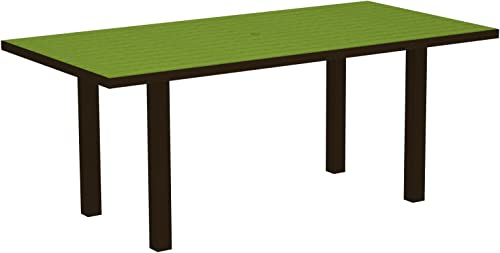 POLYWOOD AT3672-16LI 36 by 72-Inch Dining Table, Euro, Textured Bronze Lime