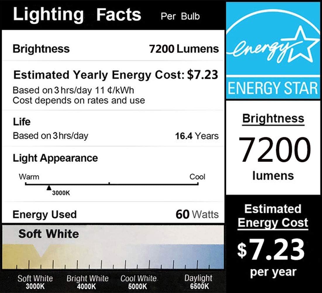 100W Super Bright LED Garage Ceiling Light Deformable Triple Glow 6000K 12500Lumens E26 for Garage Basement Workshop LED Garage Lights IP65 Waterproof Dusk to Dawn LED Yard Lighting Shop Light