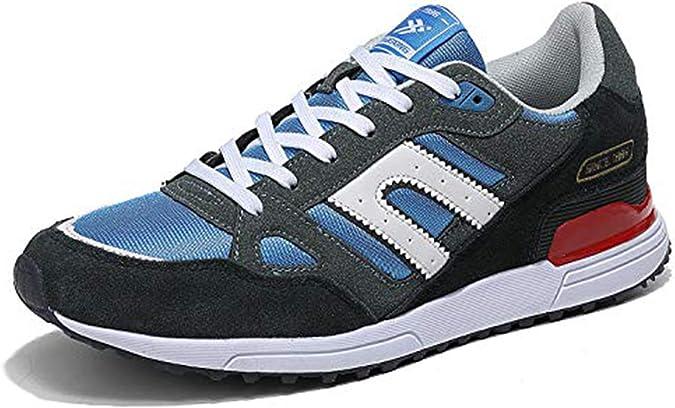 AX BOXING Zapatillas Hombres Deporte Running Sneakers Zapatos para Correr Gimnasio Deportivas Padel Transpirables Casual 40-46 (Azul Amarillo, Numeric_42): Amazon.es: Zapatos y complementos