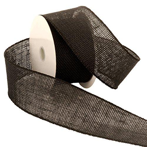 Wired Ribbon, 2-1/2-Inch by 10-Yard Spool, Black ()