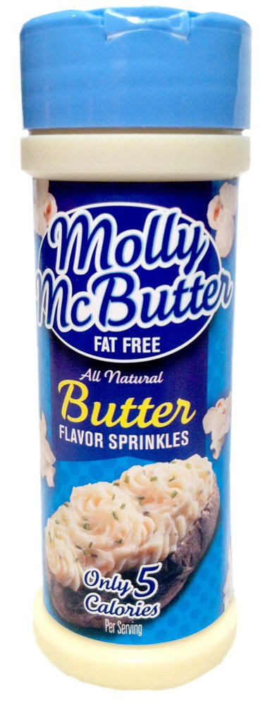 Molly McButter Fat Free BUTTER FLAVOR SPRINKLES 2oz (18 Pack)