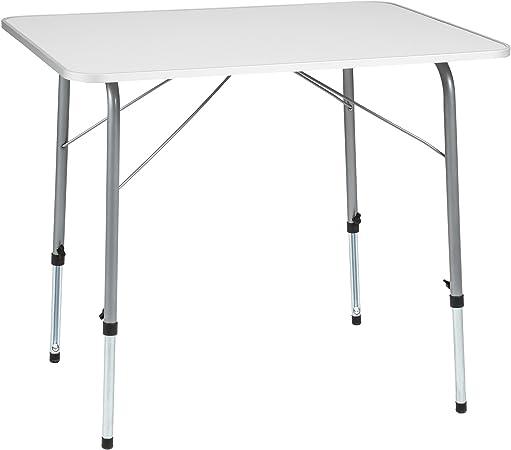 TecTake Mesa de Camping Plegable Regulable en Altura 80 x 60 x 68 cm