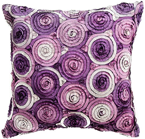 Avarada Triple Colour Floral Bouquet Decorative Throw Pillow Case