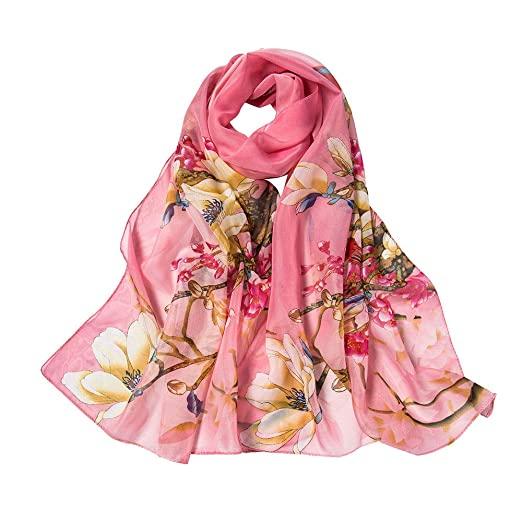 efaea575f6332 Women Scarfs On Sale Scarves Floral Printing Long Soft Chiffon Neck Scarves  Wrap Scarf Shawl Scarves for Ladies at Amazon Women's Clothing store: