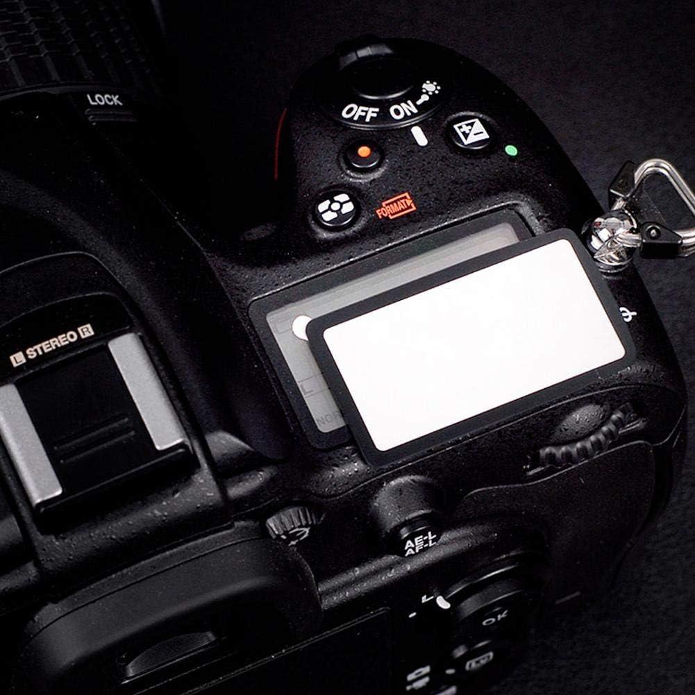 Topiky Cubierta de la Pantalla de la Mini c/ámara Cubierta de acr/ílico Pantalla Exterior Superior Pantalla LCD Cristal de Ventana Resistente a los ara/ñazos Funda Protectora para Nikon D850 D500