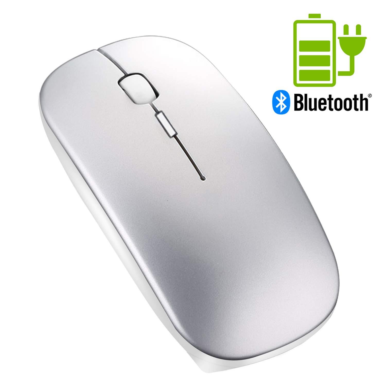 Ratón inalámbrico portátil Bluetooth Recargable - Tsmine Mini Ratón láser para Juegos Ratón inalámbrico Ratones ópticos ergonómicos Ratón Space Grey: ...