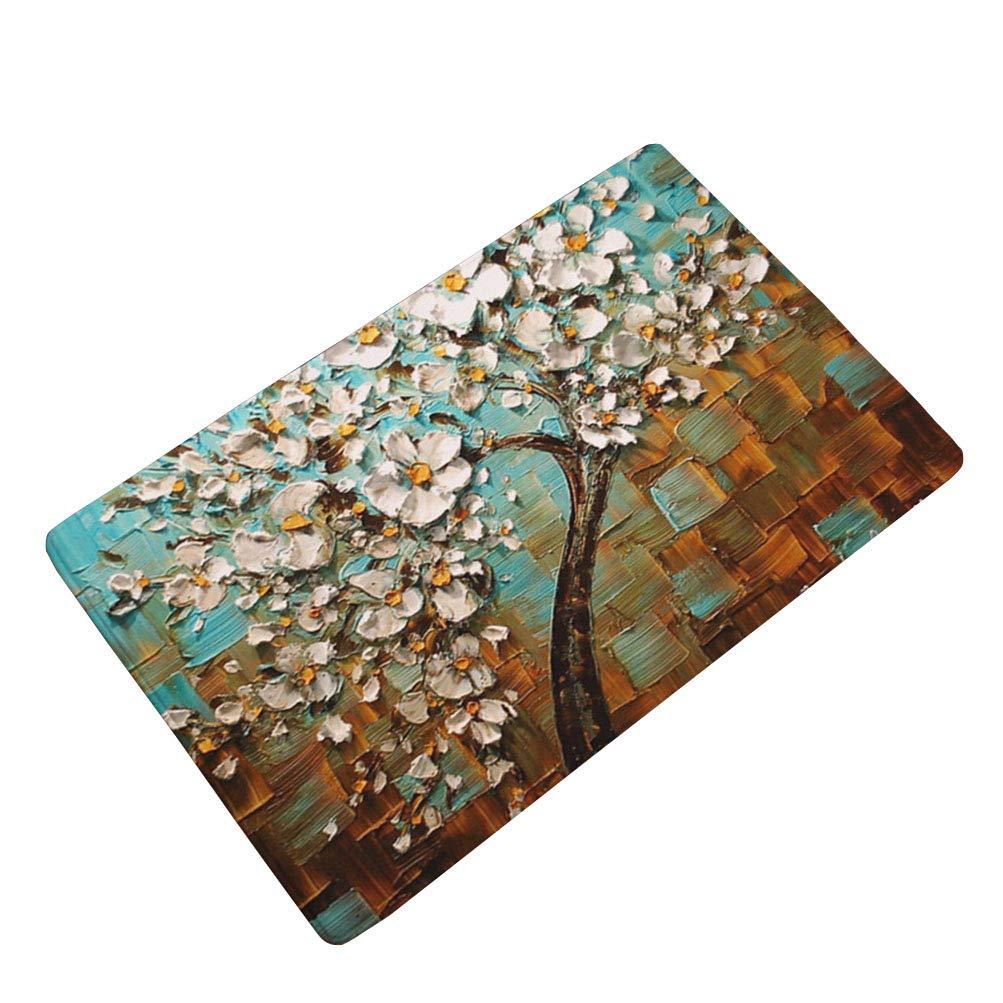 LamourBear Oil Painting Thin Welcome Door Mat Rug Indoor/Outdoor Mats Doormat Entrance Mat Decor Rug 24
