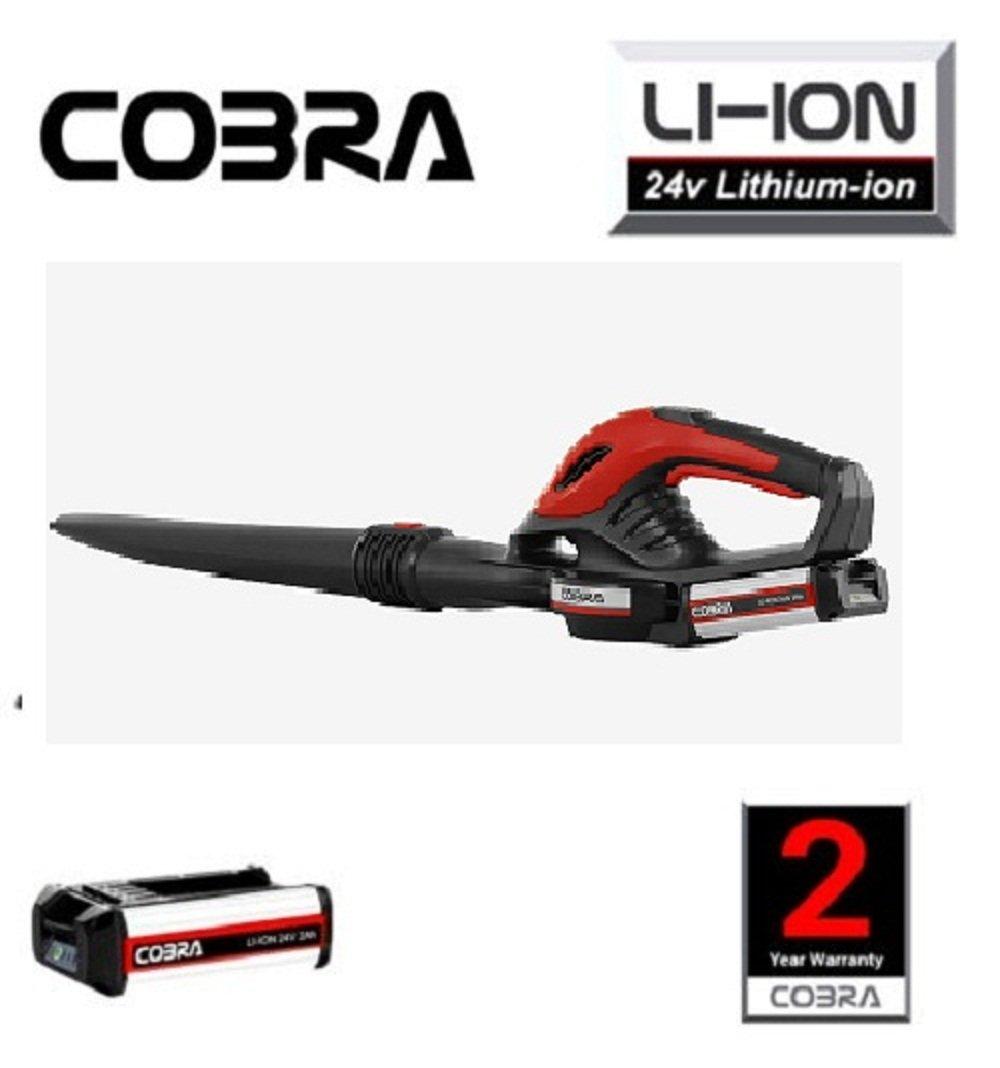 Cobra bv6524V Black, Red 24V Lithium-Ion Vacuum Cleaner of Leaves–(Cordless Leaf Blower Handheld Blower, Black, Red, 14500RPM, 24V, Lithium-Ion (Li-ion), 2(H)