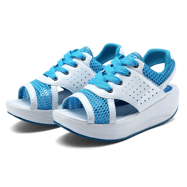 Hishoes Damen Sommer Atmungsaktiv Mesh Sport Outdoor Sandalen Fitnessschuhe Gesundheitsschuhe Offene Zehen Sneakers 2W3ztBGGRw