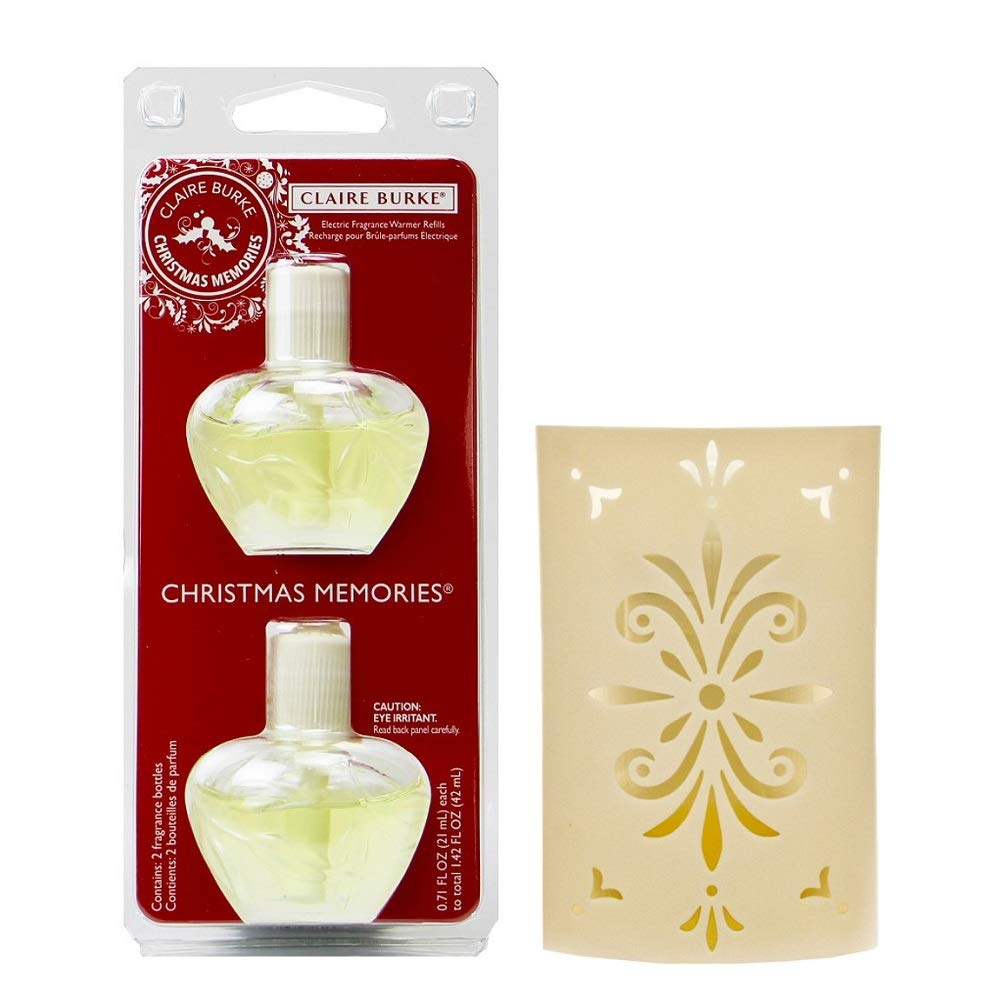 Claire Burke Christmas Memories Electric Fragrance Warmer Unit and Refill Bundle