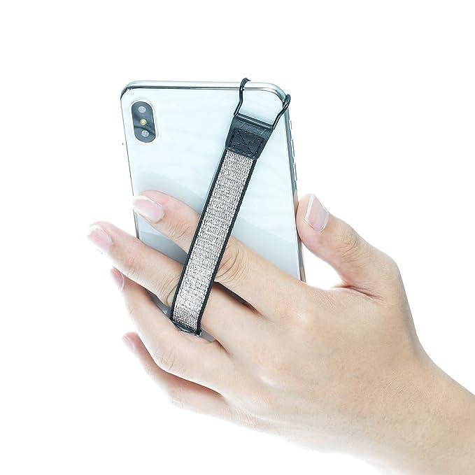 TFY - Correa de Seguridad para iPhone, Samsung y Otros Smartphones, iPhone XS MAX/XS/XR/X / 8 Plus / 8/7 Plus / 7/6 Plus / 6 y Otros Smartphones, Color Plateado: Amazon.es: Electrónica