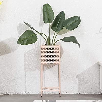 LRW Nordic Style Pink Flower Stand Creative Simple Living Room Floor-Mounted Wrought Iron Flower Stand: Garden & Outdoor