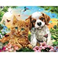 Bits And Pieces 100 Large Piece Jigsaw Puzzle Kitten And Puppy 100 Pc Cat And Dog Jigsaw By Artist Adrian Chesterman