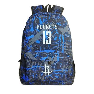 Houston Rockets James Harden Mochila luminosa para niños, Mochila ...