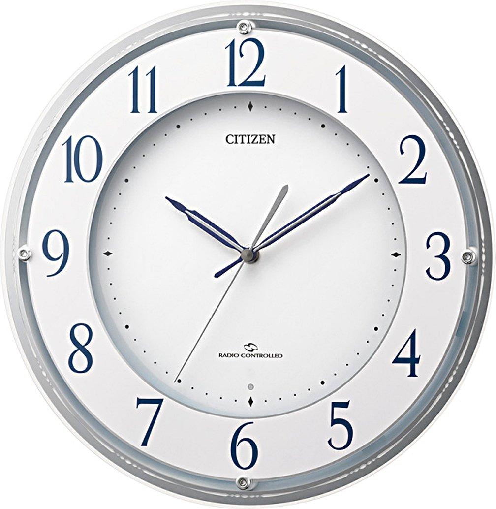 CITIZEN 高感度電波掛時計 スリーウェーブM823 白パール色 4MY823-003 B009CK2LJ2