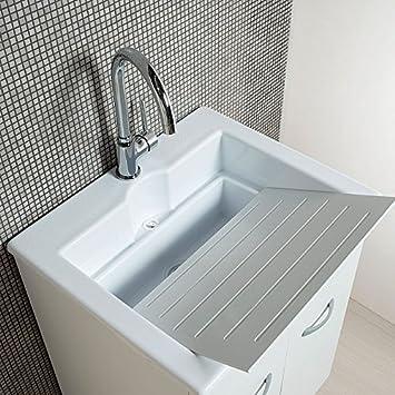 Mobile lavanderia con lavabo Zeus in ABS doppio uso 60x50: Amazon.it ...