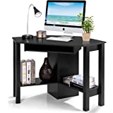 Tangkula Corner Desk, Corner Computer Desk, Compact Home Office Desk, Laptop PC Table Writing Study Table, Workstation with S
