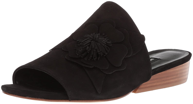 Nine West Women's Lucienne Suede Slide Sandal B074PXJTQ5 7 B(M) US|Black Suede