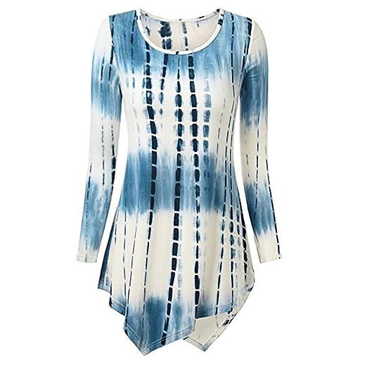 6bca38802b5c2 Ladies Printed Long Sleeves Women Fashion O-Neck Print Long Sleeve Loose  Tops T-Shirt Blouse Duseedik