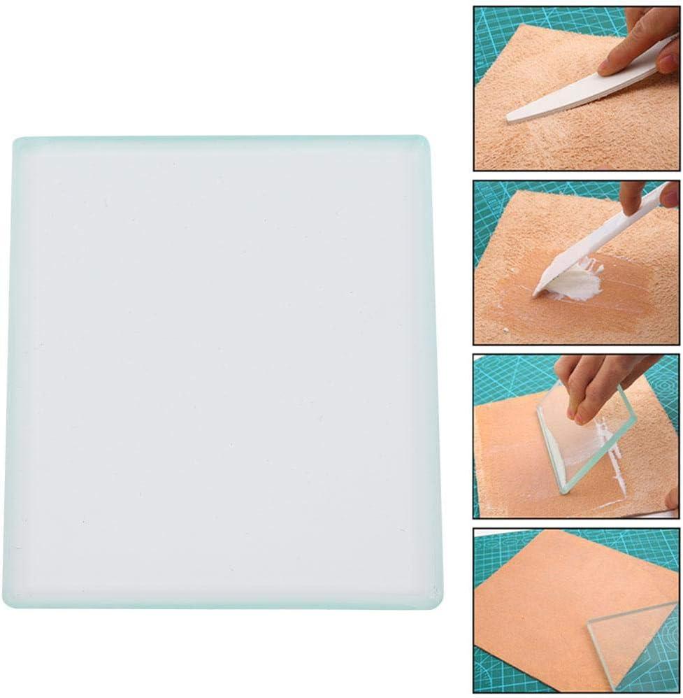 cuir polissage outils de lartisanat de plaque de lustrant de verre tremp/é en verre tremp/é BRICOLAGE cuir artisanat slicker de verre pour le polissage