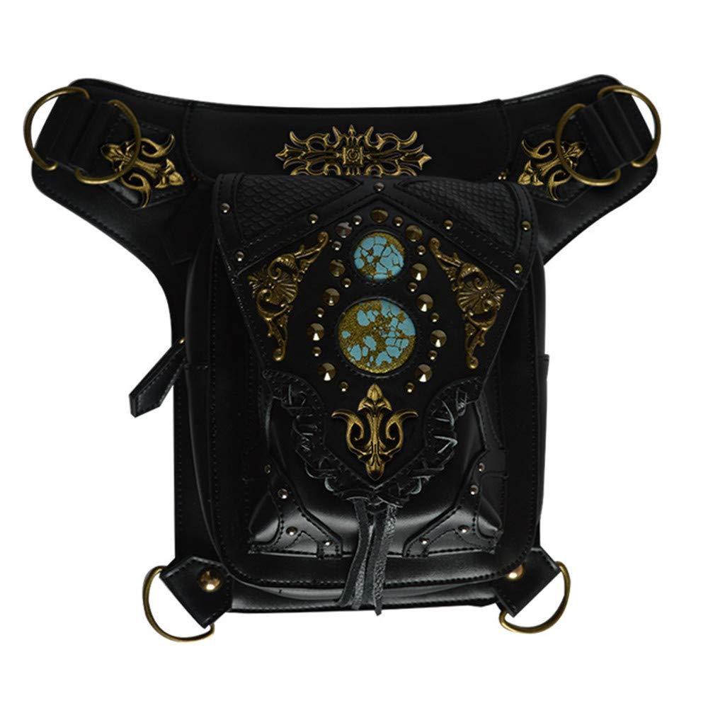 Steampunk Gürteltasche Gothic Leder Umhängetaschen Victorian Rivet Leg