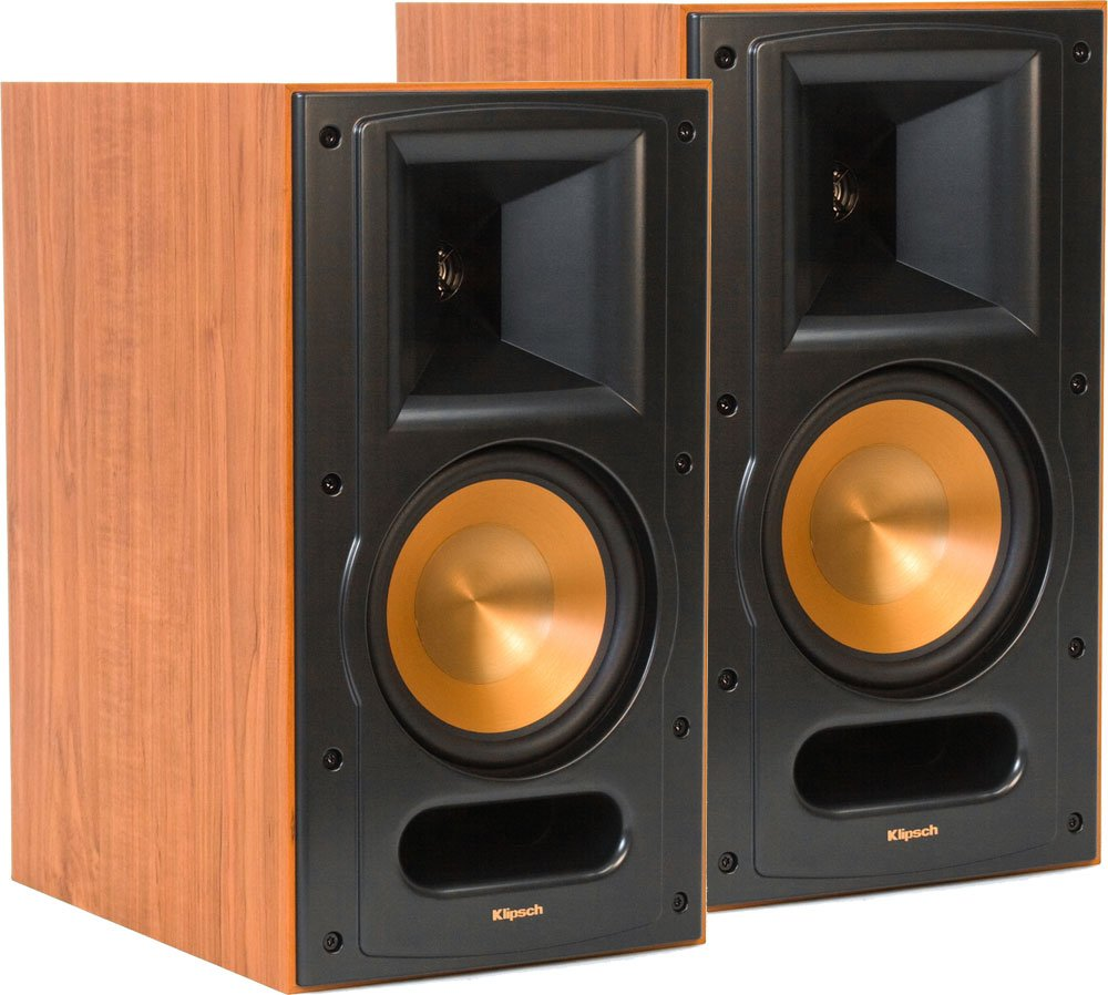 speakers bookshelf klipsch rp ebony angle