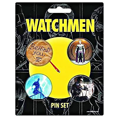 "NECA Watchmen Movie ""Behind You"" 4-Pin Set: Toys & Games"