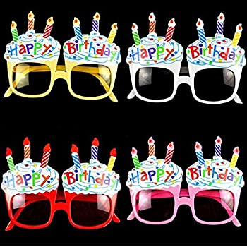 Amazon.com: ebtoys Vela Feliz Cumpleaños anteojos de sol ...