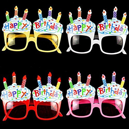 EBTOYS Happy Birthday Candle Sunglasses Novelty Sunglasses for Birthday Gift Party Supplies,4 -