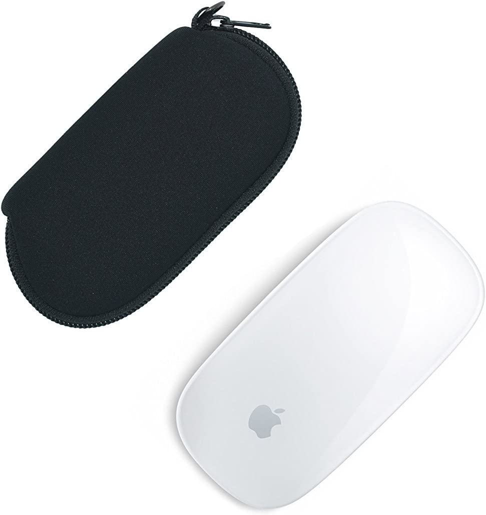 Orchidtent 2 Pcs Black Color Neoprene Soft Storage Carrying Case/Protector/Bag for Apple Magic Mouse (I and II 2nd Gen)