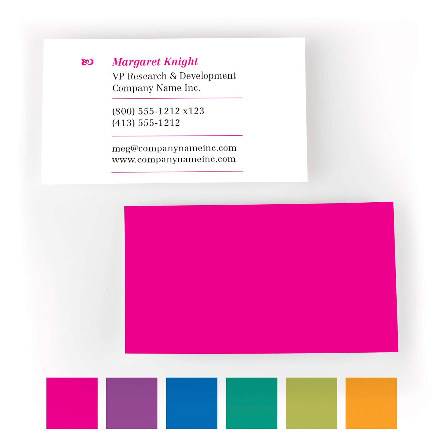 Buttonsmith Custom Premium Printed Superfine Business Cards - 3.5''x2'' - Quantity 200 - Double-Sided, Superfine Thick Luxury Touch Stock - Magenta - Made in The USA