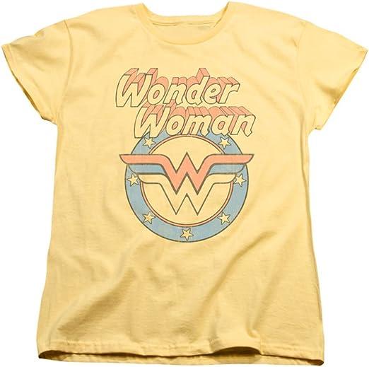 DC Comics Wonder Woman Golden Logo Licensed Adult T Shirt