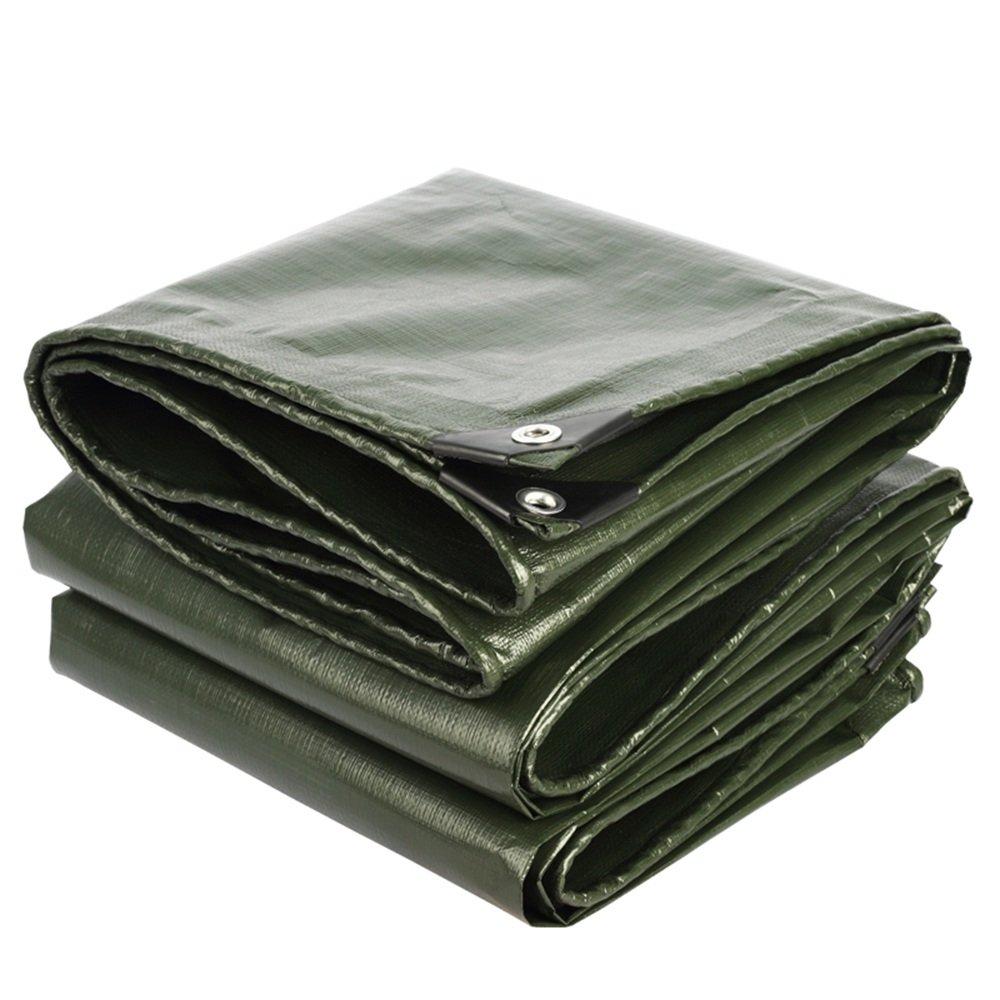 テントの防水シート タープカバー厚い厚手の素材、防水、ターポリンキャノピーテント、ボート、RVまたはプールカバーの厚さ0.35mm、180g/m² それは広く使用されています (色 : アーミーグリーン, サイズ さいず : 6x7m) B07D6MPJ4S 6x7m|アーミーグリーン アーミーグリーン 6x7m