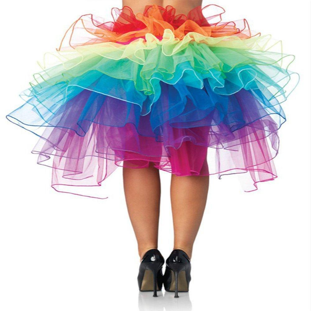 Tutu Gonna Donna Arcobaleno Gonna Vintage di Strati Gonna di Tulle Danza Abito Ballerina Ballo Balletto Vestito Principessa per Attività di Stage Lingerie per Halloween Carnevale Natale Cosplay DJS