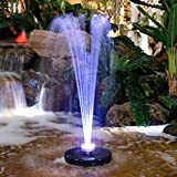 Alpine Floating Spray Fountain with 48 Led Light and 550 GPH Pump