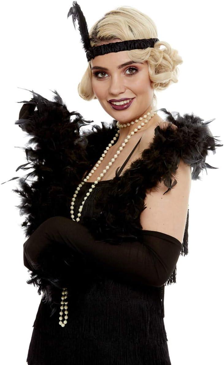 Funidelia | Collar charlestón para Mujer ▶ Años 20, Cabaret, Gángster, Gatsby - Blanco, Accesorio para Disfraz, Collar de Perlas de 0,8 mm x 1,80 m.