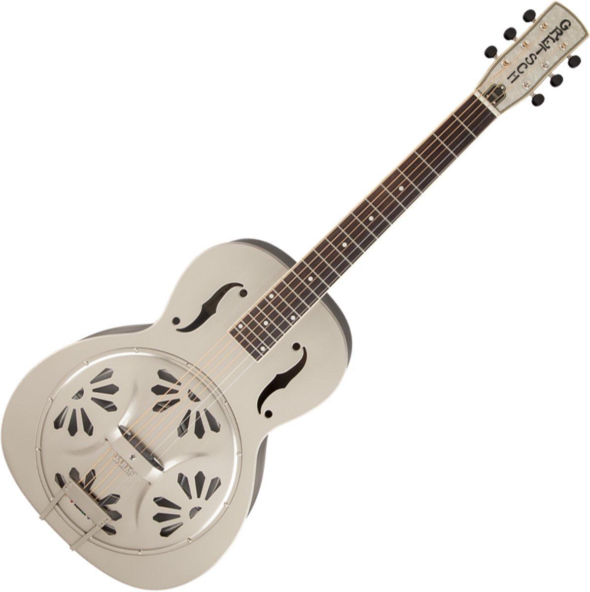 Gretsch G9221 Bobtail Steel Round Neck A/E Resonator Guitar with Paduak Fingerboard