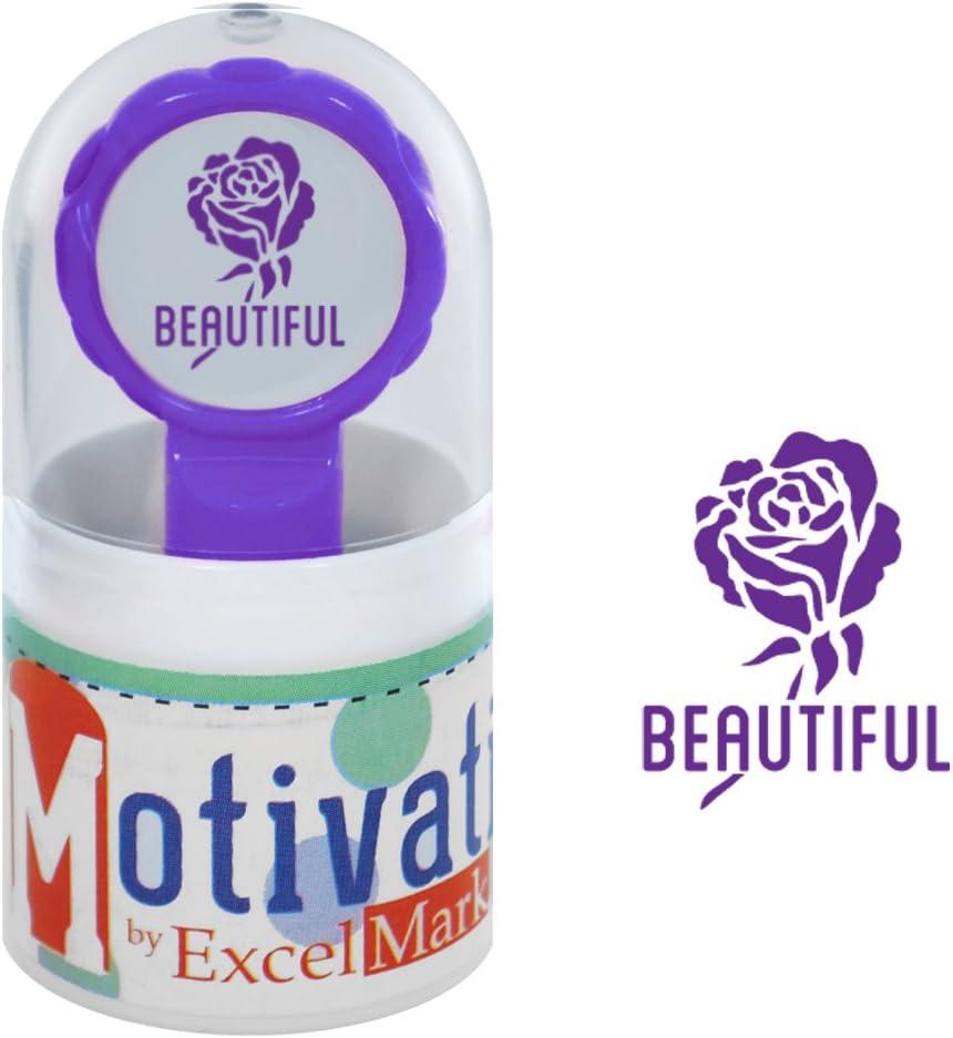NEW ExcelMark Motivations Pre Inked Teacher StampGot It Bunny Purple Ink