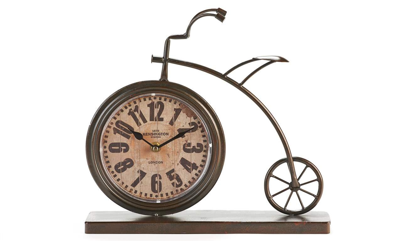 Amazon.com: Gift Craft Metal Table Clock, Bicycle Shaped, Whimsical Design:  Home U0026 Kitchen