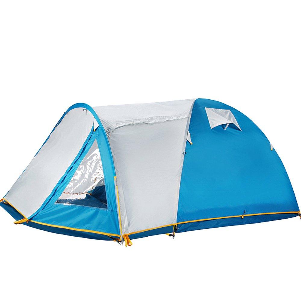QB-ZP Zelt im Freien 3-4 Leute doppeltes Starkes regendichtes Wilder kampierende Ausrüstung 2 Leute, die Zelt zelten kampieren