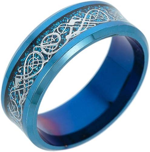 Fashion Women S Titanium Steel Dragon Ring Men Ring With Silver