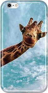 VIVIBIN iPhone 6 Case,iPhone 6s Case,Cute Giraffe for Women Girls Clear Bumper Soft Silicone Rubber TPU Cover Slim Fit Protective Phone Case for iPhone 6/iPhone 6s