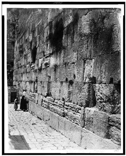 Photo: Jewish faith,wailing place,Wall,spiritual life,religious sites,Jerusalem,1860 by Infinite Photographs