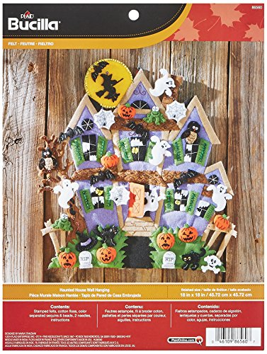 Bucilla Felt Applique Wall Hanging Kit, 18 by 18-Inch, 86560 Haunted House