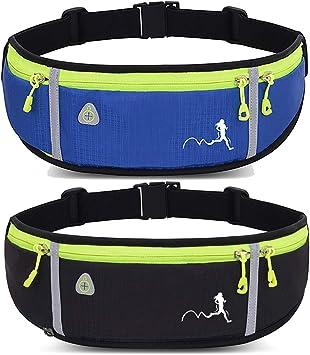 Water Resistant Waist Belt Fanny Packs Peicees Waist Bag Holder Fanny Pack with Water Bottle Holder for Running Hydration Running Phone Holder for Men Women